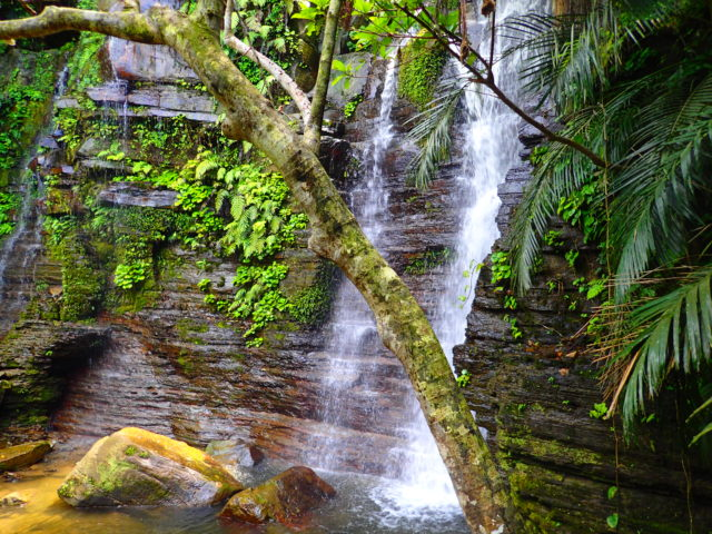 ゲータの滝の一段目