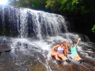 【1日】サンガラの滝を目指すジャングルSUP/カヌー&由布島観光セットツアー