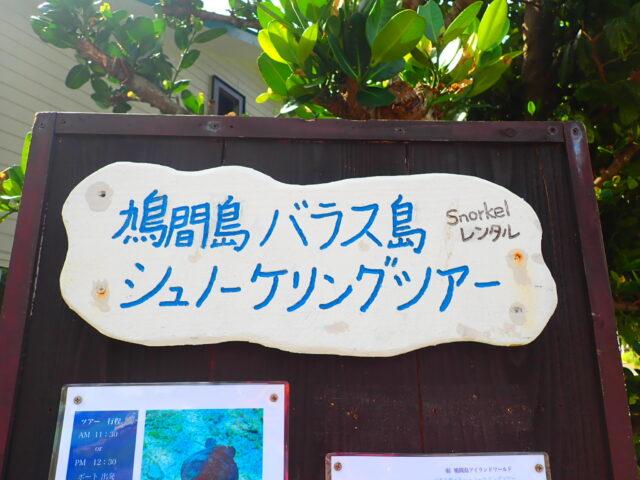 鳩間島シュノーケリング